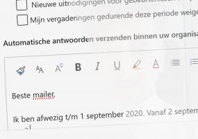 Auto-reply of afwezigheidsmelding instellen op je mail